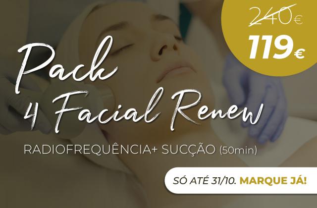 Pack 4 Facial Renew (Radiofrequência + Sucção)