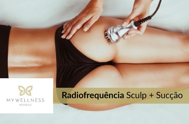 Radiofrequência de corpo Sculp + Sucção